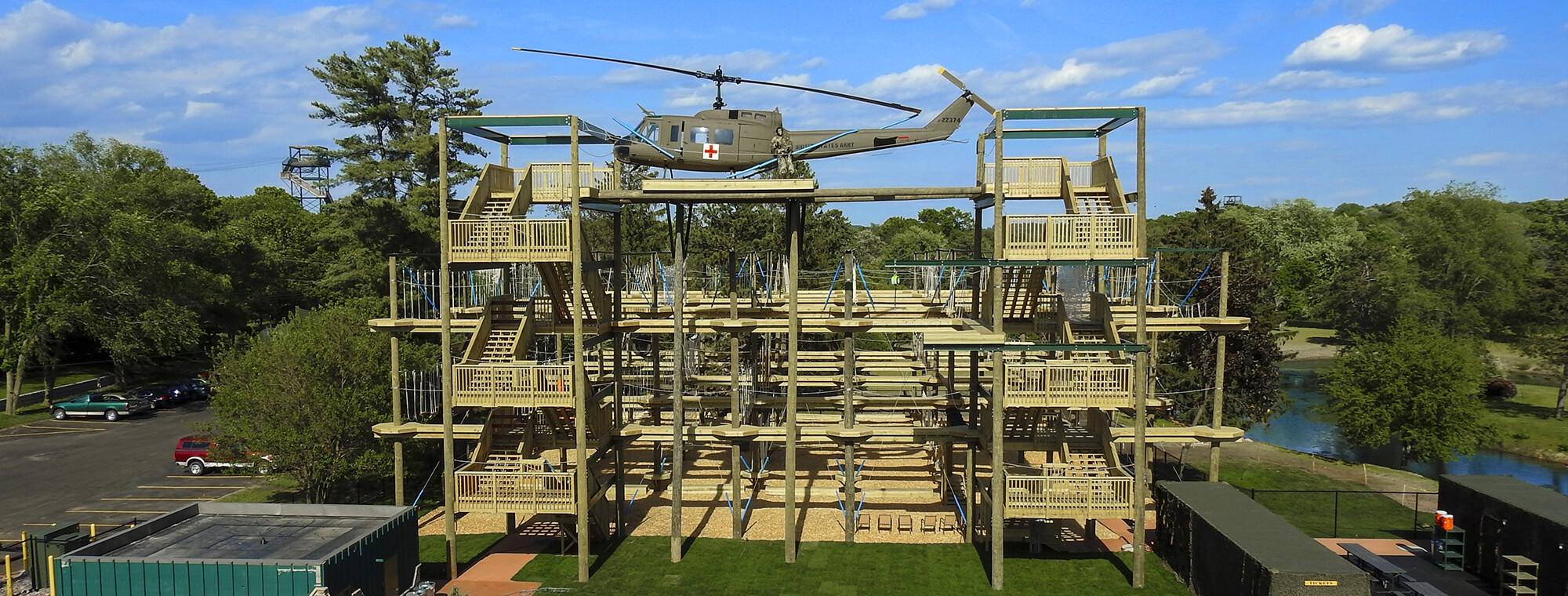 Bigfoot Ropes Course Dells Adventure Park